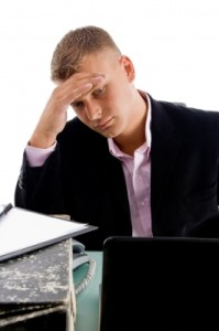 Business person stressed