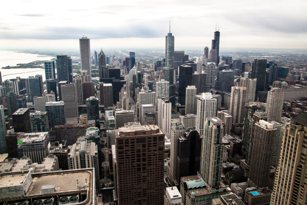 Chicago skyline depicting multiple billing locations