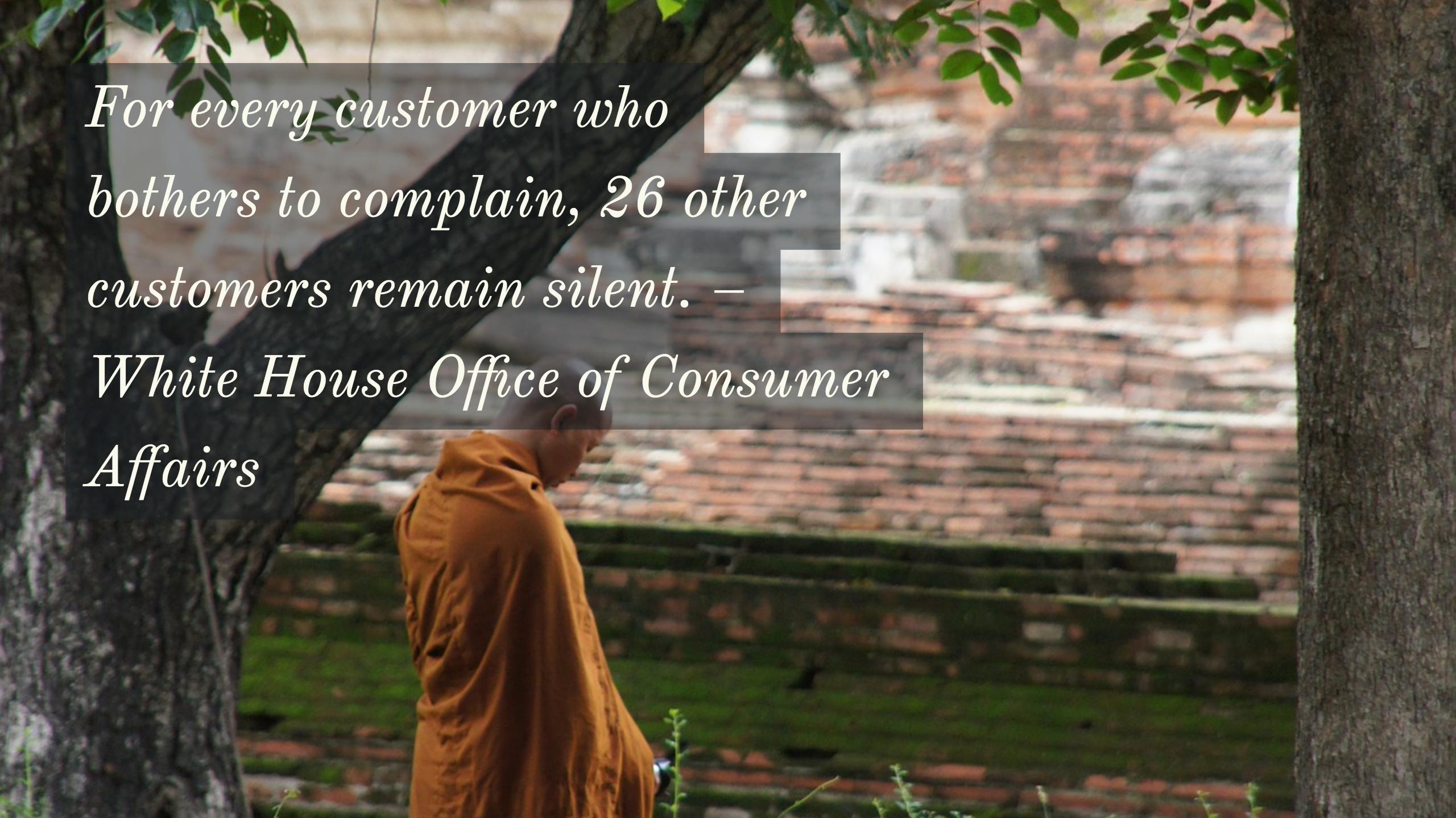 Silence of unhappy customers