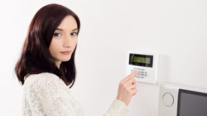 Activating your security alarm